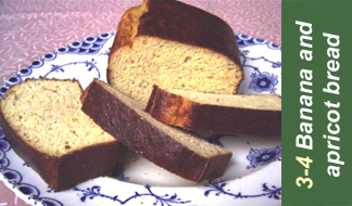 Recipe 3-4 banana and apricot gram bread