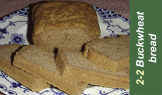 Recipe 2-2 buckwheat bread