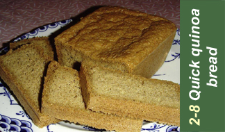 Recipe 2-8 quinoa bread